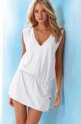 Damska sukienka w różnych kolorach - 11 kolorów Biały