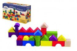 Kocky stavebnice drevo 100ks v krabici 20x12x8cm RM_33012324