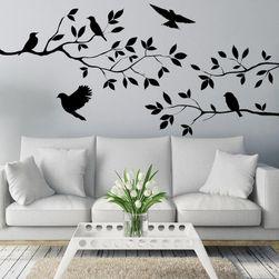 Duvar çıkartma - dal üzerinde kuşlar