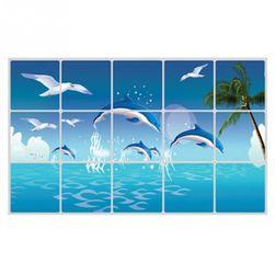 Наклейка с дельфинами на плитку