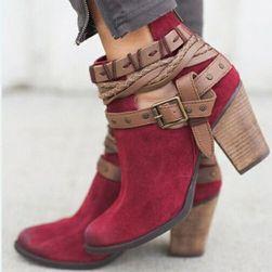 Женские ботинки 34-43 Красный_размер 37