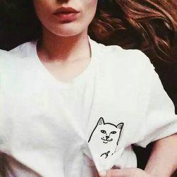 Látszólag aranyos póló, csúnya macskával - 3 színben