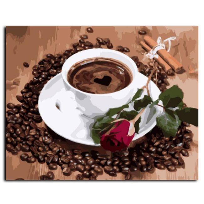 DIY картина по номерам- Чашка кофе 1