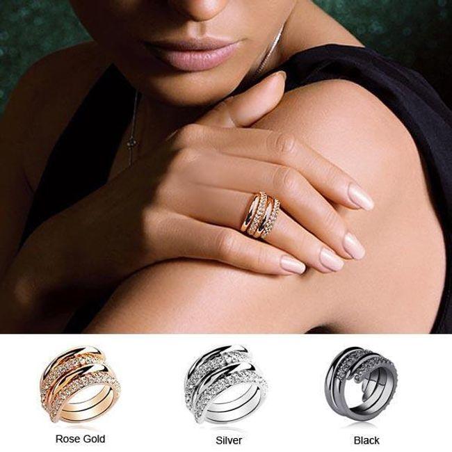 Nowoczesny pierścionek w kształcie spirali 1