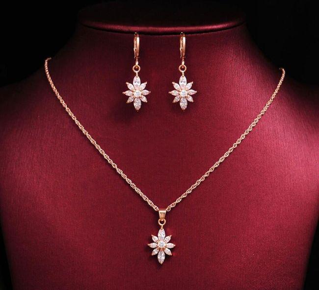 Sada svatebních šperků - květiny 1