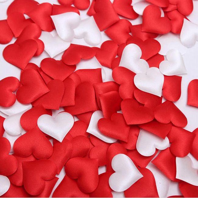 Svatební konfety ve tvaru srdíček - 5 barev 1