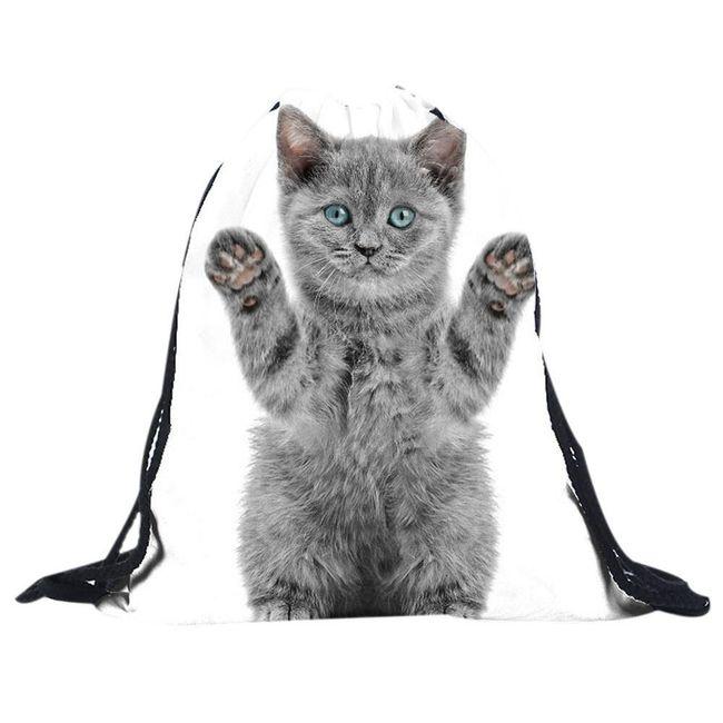 Torba/nahrbtnik s sivo mačko 1