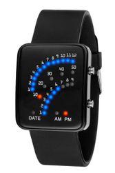 Moška binarna ura s silikonskim paščkom - 2 barvi Črna
