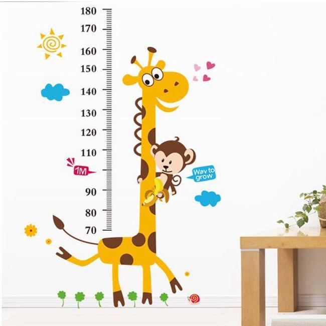 Metr pro děti - nalepovací žirafa na zeď 1