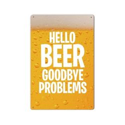 Blaszana retro tabliczka Hello Beer