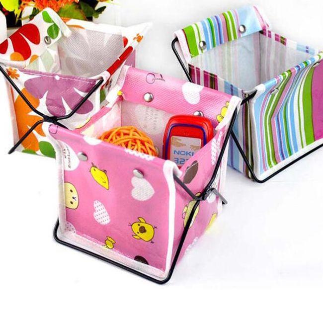 Textilní minikošík na drobné předměty 1