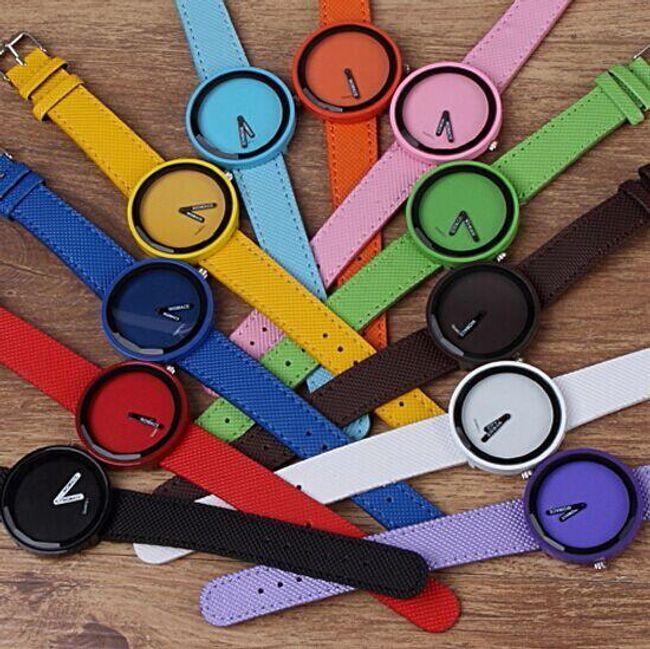 Jednoduché elegantní hodinky - unisex, na výběr z 8 barev 1