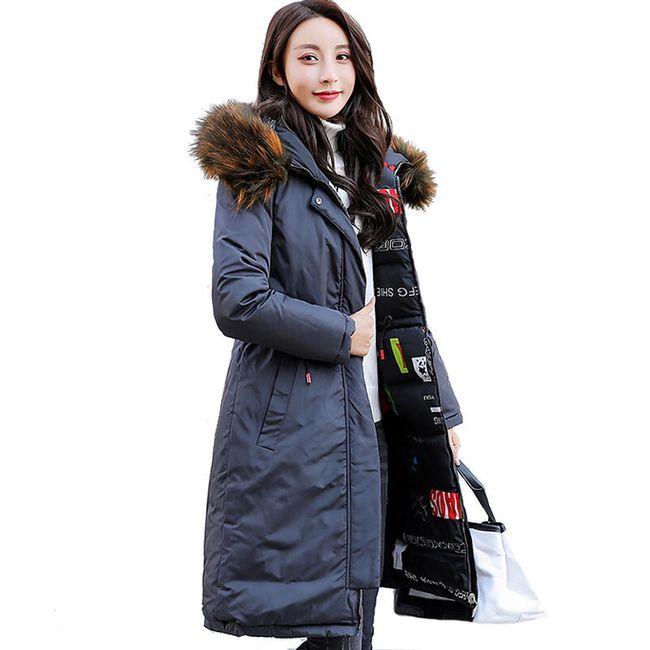 Sportovní oboustranný kabát se vzorem a kožešinou - 5 barev 1