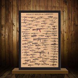Vintage plakát a fegyverek rajongói számára - 51 x 35,5 cm