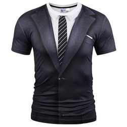 Majica potiskana kot suknjič s kravato