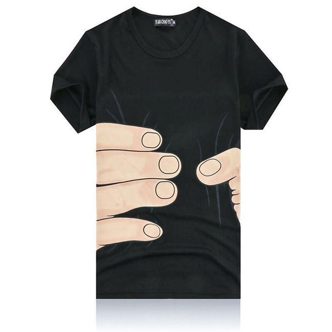 Tričko s krátkým rukávem a vtipným potiskem 1