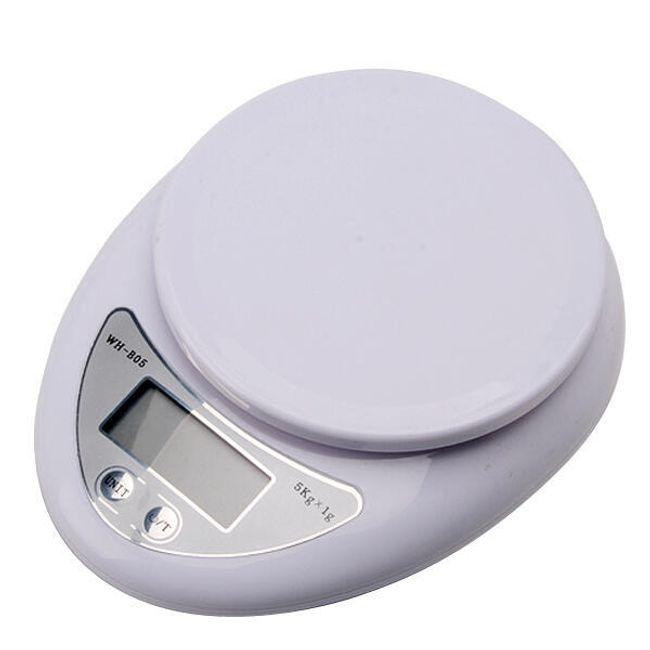 Cyfrowa waga kuchenna z LCD wyświetlaczem - biała 1