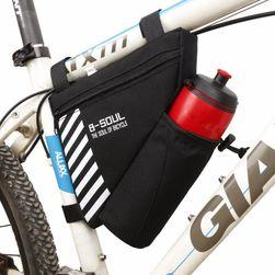 Trójkątna torba na rower z przegrodą na butelkę - 4 kolory