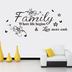 Stenska nalepka - Družina