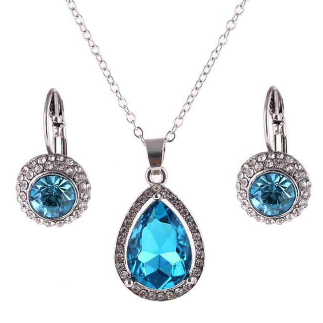 Luxusní set šperků řetízek a náušnice - více variant 1