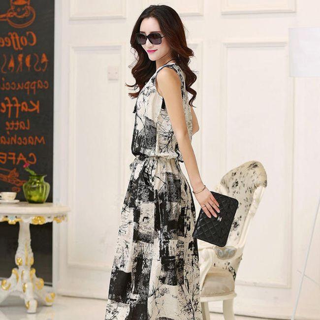 Dámské maxi šaty bez rukávů - Černá, velikost 7 1
