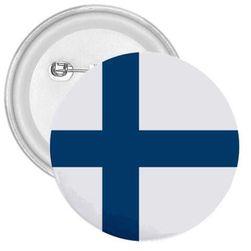 Kitűző Finnország zászló