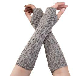 Pletené dámské návleky na ruce - 5 barev
