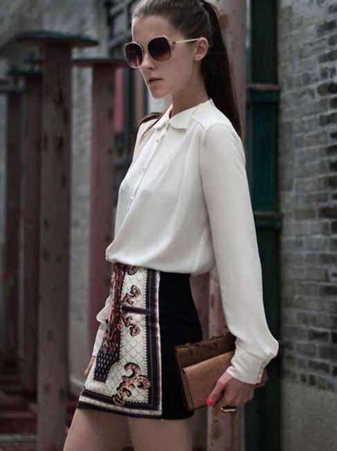 Vintage sukně s módním vzorem 1