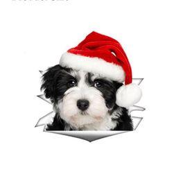 Коледен стикер с животни
