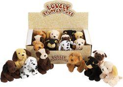 Plišasta igrača - Pes, ki sedi 10 cm 8 vrst SR_DS17888750