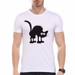 Pánské tričko s vtipným potiskem kočky - 3 varianty