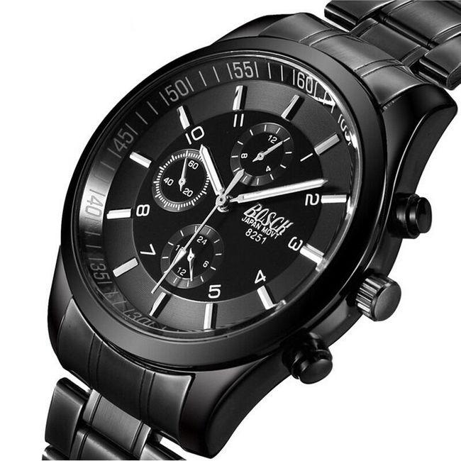 Pánské náramkové hodinky v tmavém provedení - 3 varianty 1