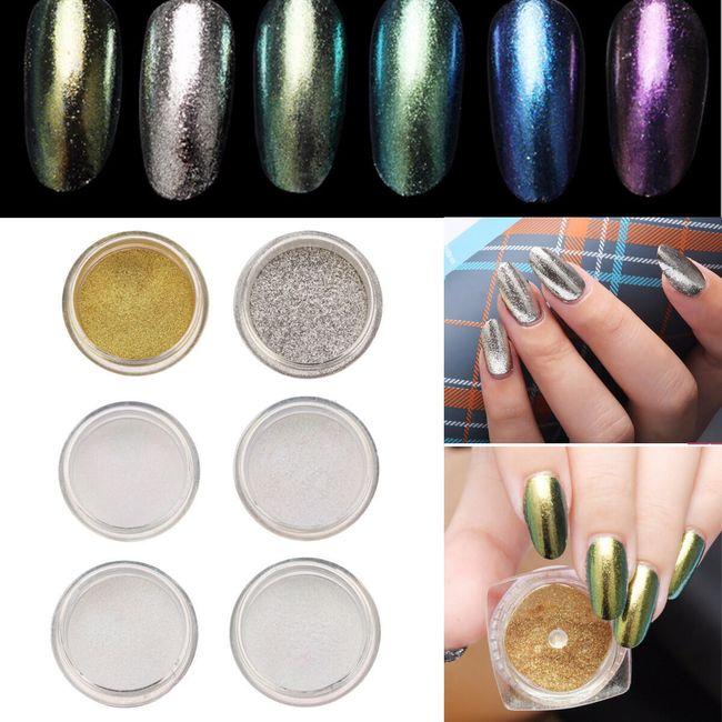 Zářící práškový pudr na nehty - různé barvy 1