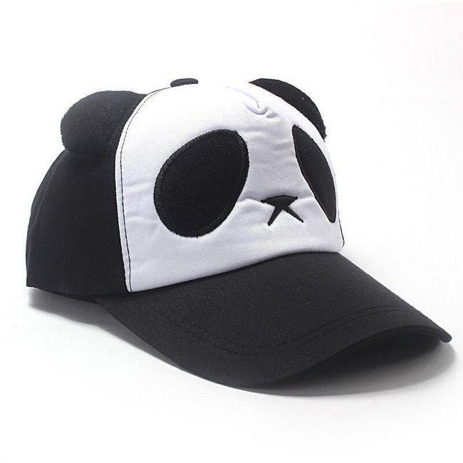 Dětská kšiltovka s motivem pandy - 3 barvy 1