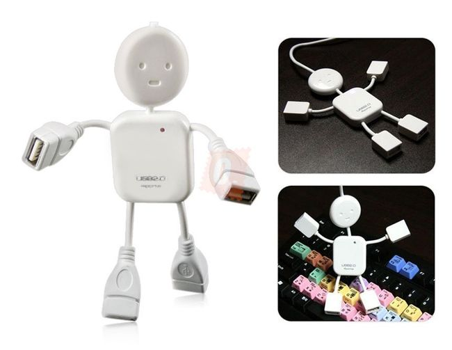 USB Hub w kształcie ludzika - rozdzielacz 1