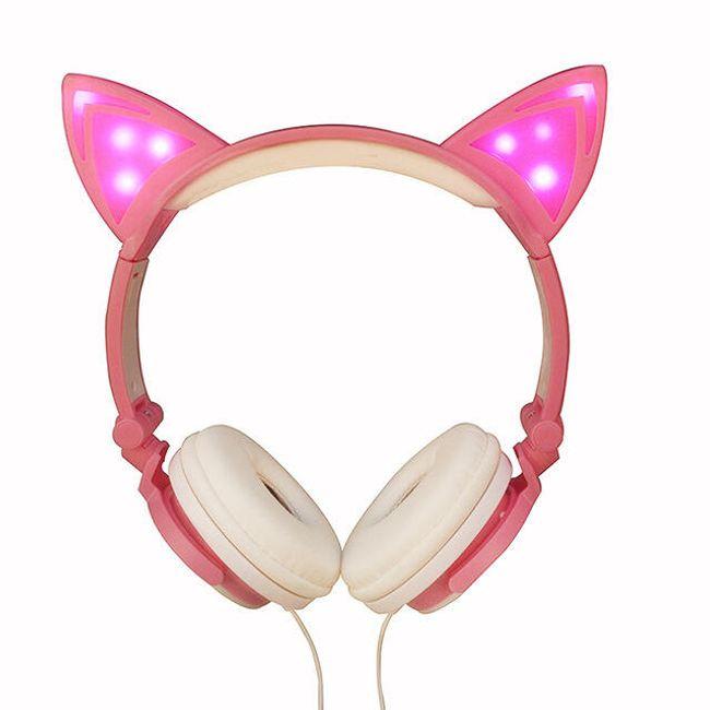 Sluchátka s kočičími oušky Kitty 1