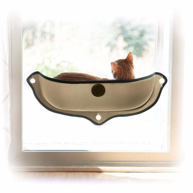 Kočičí lehátko na okno - 2 barvy 1