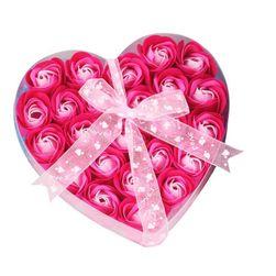 Set mare de săpunuri în formă de trandafiri - 4 culori