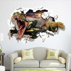 3D samolepka na zeď s dinosaury