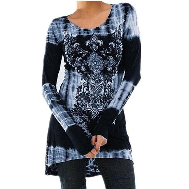 Dámská tunika v bohémském stylu - Modrá-velikost č. 7 1
