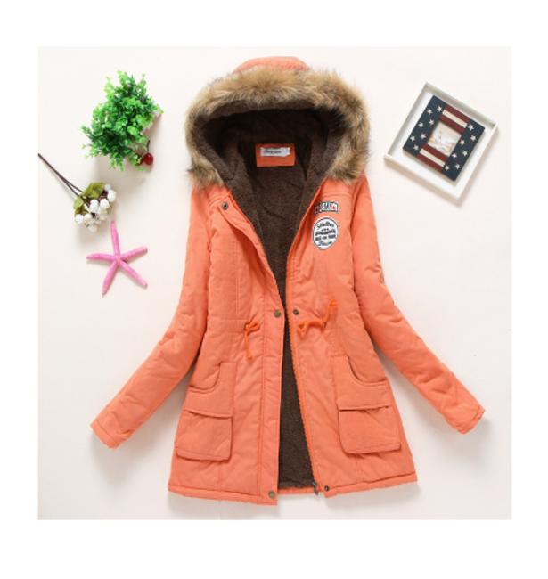 Dámská zimní bunda Jane - Oranžová-velikost č. L/XL 1