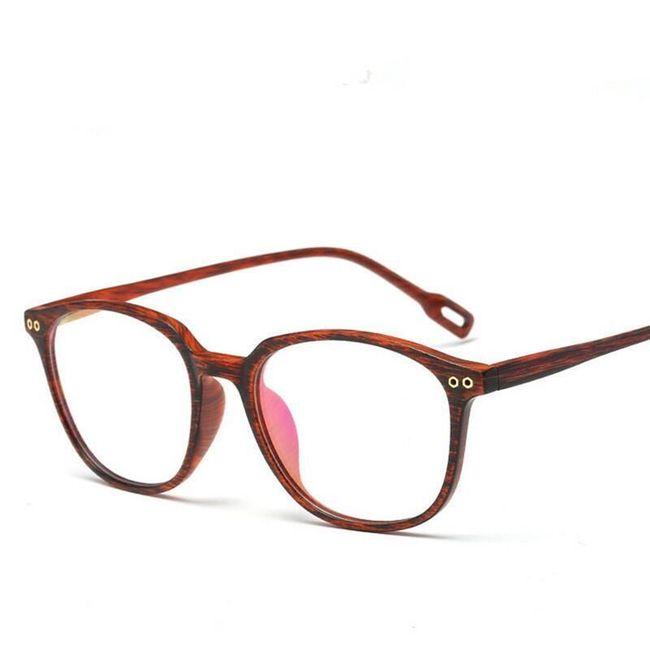 Nedioptrické brýle v designu dřeva 1
