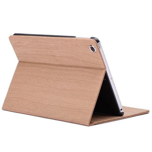 Flip pouzdro pro iPad Mini 1/ 2/ 3 - dřevěný design 1