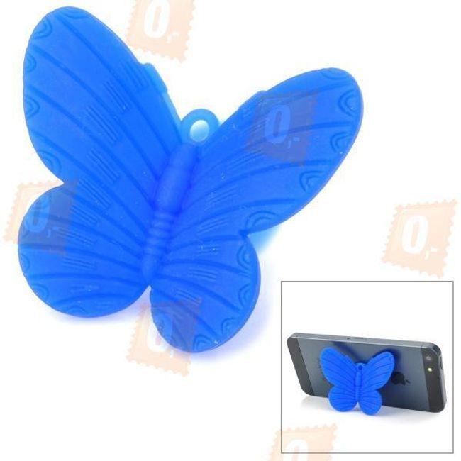 Stojánek na mobil ve tvaru motýla - modrý 1