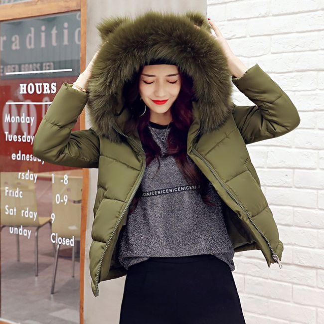 Zimska jakna sa veštačkim krznom Cara - 5 boja 1