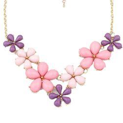 Virágokkal díszített nyaklánc - 2 színben
