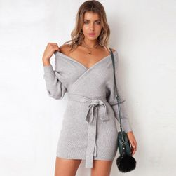 Ženska pletena haljina sa mašnom - 5 boja