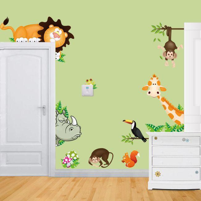 Stenske nalepke za otroško sobo - 2 vrste 1