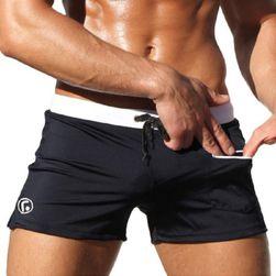 Moške kopalke boksarice z žepom za majhne predmete Črna, velikost 3