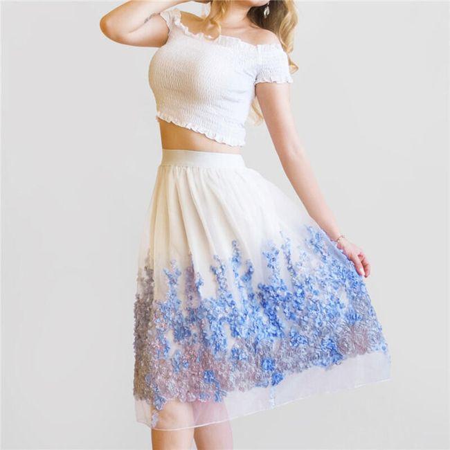 Dámská vzdušná sukně s vysokým pasem 1